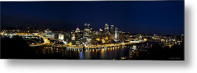 City Of Bridges Metal Print by Kathy Ponce