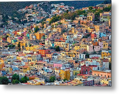 City Of Guanajuato Metal Print by Nicola Fiscarelli