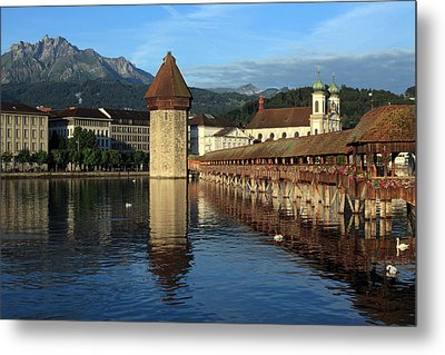 City Of Lucerne In Switzerland Metal Print by Ron Sumners
