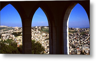 City Of Nazareth Metal Print by Thomas R Fletcher