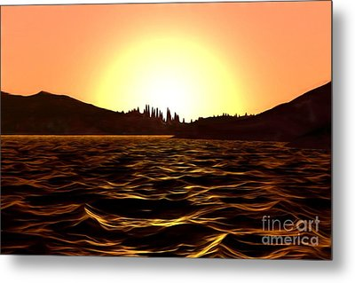 Metal Print featuring the painting City Of The Sun by Pet Serrano
