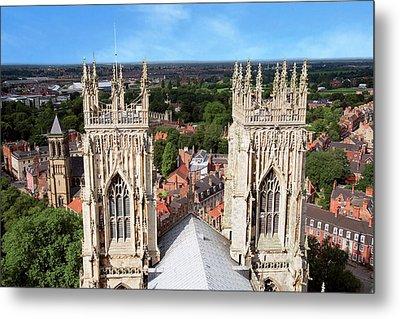 City Of York, York Minster, Cathedral Metal Print