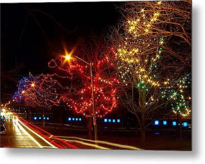 City Park Lights Metal Print by Paul Wash
