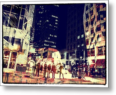 City People Metal Print