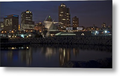 Metal Print featuring the photograph City Reflection by Deborah Klubertanz