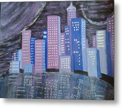 City Reflections Metal Print by Erica  Darknell