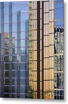 City Reflections Metal Print by Sandra Bronstein