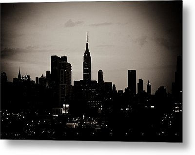 City Silhouette Metal Print by Sara Frank
