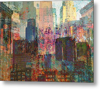City Skyline Abstract Scene Metal Print by John Fish