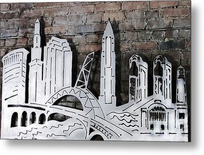 City Skyline Metal Print by Patricia Januszkiewicz