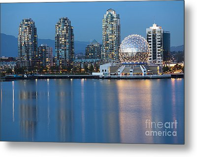 City Skyline -vancouver B.c. Metal Print