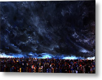City Storm II Metal Print