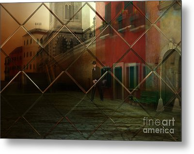 Metal Print featuring the digital art City Street by Liane Wright