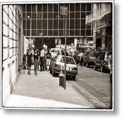 City Streets 1990s Metal Print by John Rizzuto