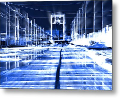 City Transformed Overnight Metal Print by Kellice Swaggerty