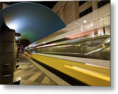 Metal Print featuring the photograph City Transit by John Babis