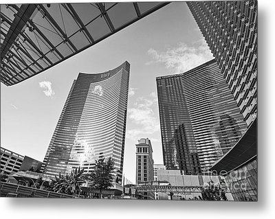 Citycenter - View Of The Vdara Hotel And Spa Located In Citycenter In Las Vegas  Metal Print