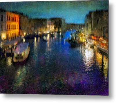 Metal Print featuring the photograph Cityscape #19. Venetian Night by Alfredo Gonzalez