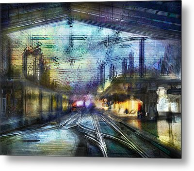 Cityscape #37 - Crossing Lines Metal Print