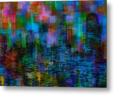 Cityscape 5 Metal Print by Jack Zulli