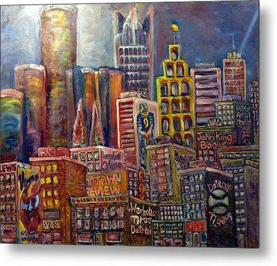 Cityscape 9 Metal Print by Don Thibodeaux