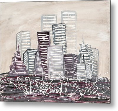 Cityscape Metal Print by Melissa Smith