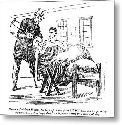 Civil War: Army Physician Metal Print by Granger