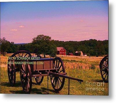 Civil War Caisson At Gettysburg Metal Print