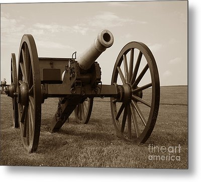 Civil War Cannon Metal Print by Olivier Le Queinec