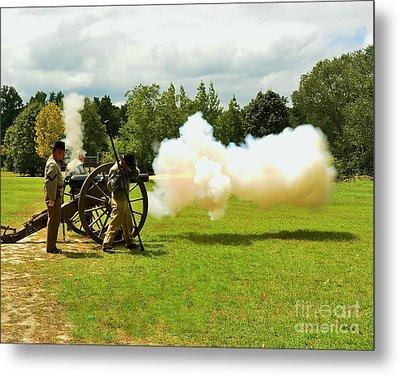 Civil War Canon Firing  Metal Print by Bob Sample