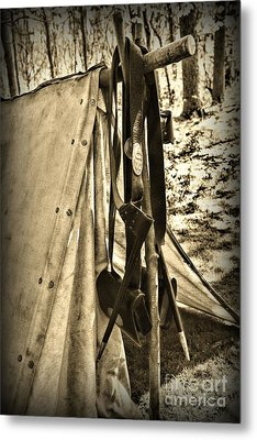 Civil War  Duty Belt Metal Print by Paul Ward