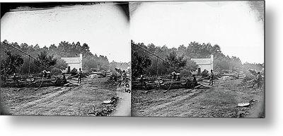 Civil War Field Hospital Metal Print by Granger