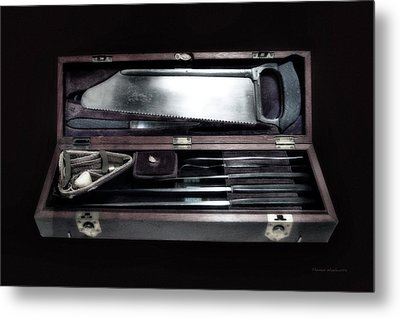 Civil War Surgical Kit Metal Print by Thomas Woolworth