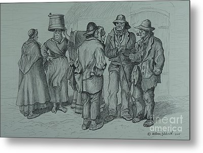 Claddagh People 1873 Metal Print