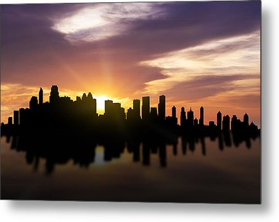 Calgary Sunset Skyline  Metal Print by Aged Pixel