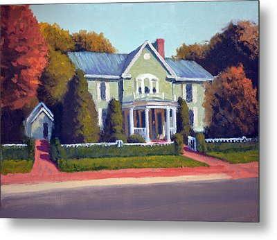 Claiborne House Autumn Metal Print