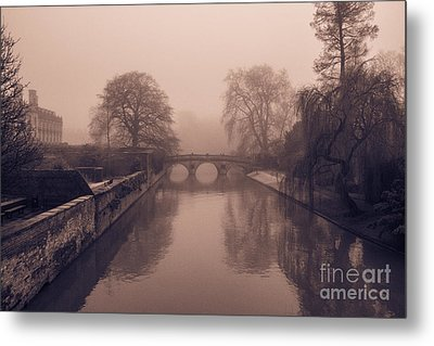 Claire College Bridge Cambridge Metal Print by David Warrington
