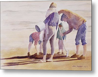 Metal Print featuring the painting Clam Diggers by John  Svenson