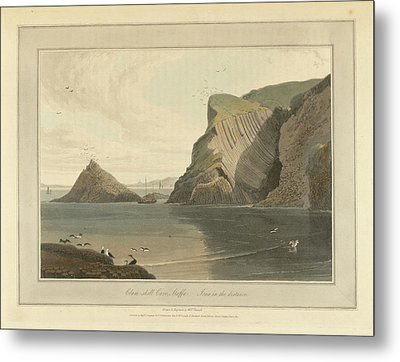 Clam-shell Cave On Staffa Metal Print by British Library