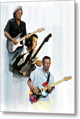 Clapton Eric Clapton Metal Print by Iconic Images Art Gallery David Pucciarelli