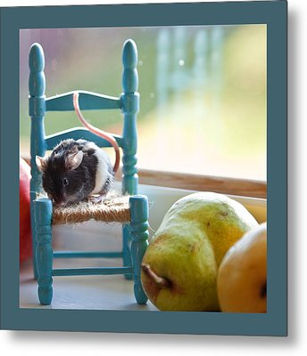 Clara's Favorite Chair Metal Print by Theresa Tahara