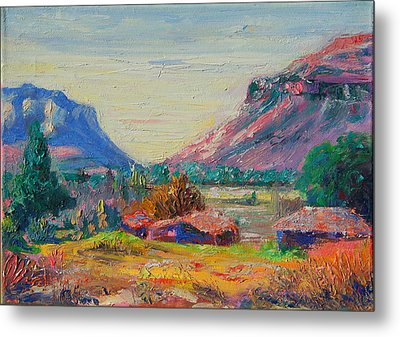 Clarence Mountain Free State South Africa Metal Print by Thomas Bertram POOLE