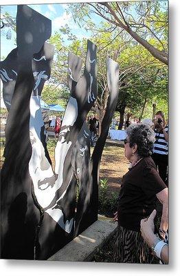 Claribel Alegria Admires Herself Metal Print