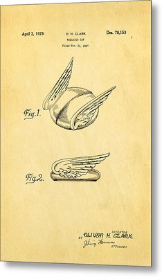 Clark Hood Ornament Patent Art 1929 Metal Print by Ian Monk