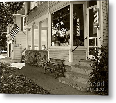 Clarks Barber Shop Metal Print