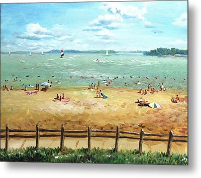 Carlyle Lake Beach In Il Metal Print