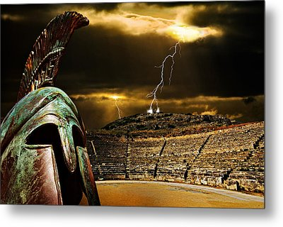Metal Print featuring the photograph Clash Of The Titans by Meirion Matthias