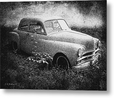 Clasic Car - Pen And Ink Effect Metal Print by Brian Wallace