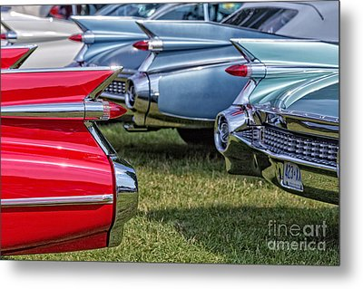 Classic Caddy Fin Party Metal Print by Edward Fielding