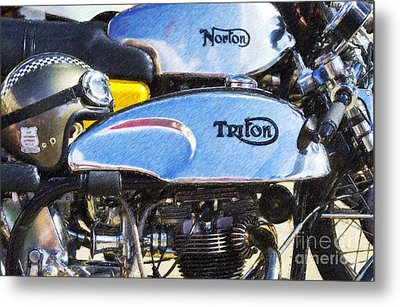 Classic Cafe Racers Metal Print by Tim Gainey